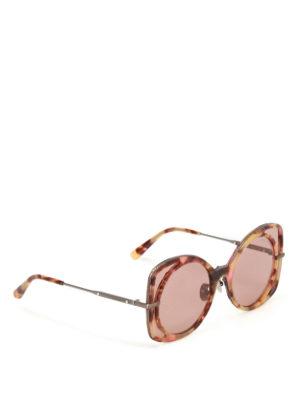 Bottega Veneta: sunglasses - Brown lenses havana sunglasses