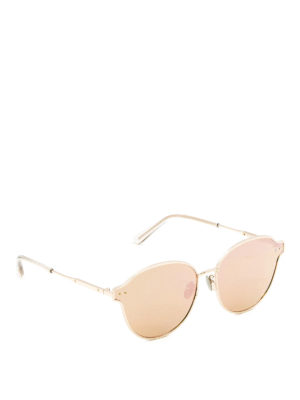 Bottega Veneta: sunglasses - Intrecciato motif metal sunglasses