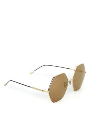 BOTTEGA VENETA: occhiali da sole - Occhiali da sole con lenti stampa Intrecciato