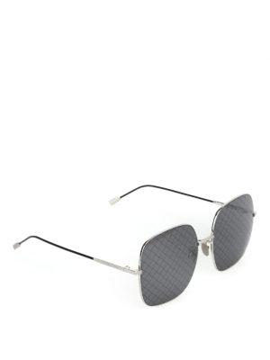 BOTTEGA VENETA: occhiali da sole - Occhiali da sole con lente stampa Intrecciato