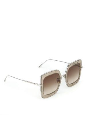 BOTTEGA VENETA: occhiali da sole - Occhiali da sole con effetto sfaccettato