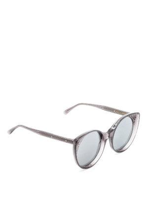 Bottega Veneta: sunglasses - New cat-eye Intrecciato sunglasses