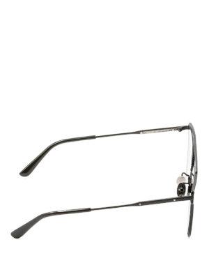 Bottega Veneta: sunglasses online - Black metal sunglasses