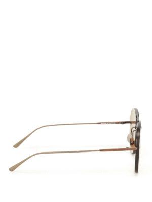 Bottega Veneta: sunglasses online - Bronze metal aviator sunglasses