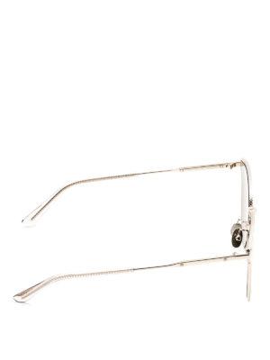 Bottega Veneta: sunglasses online - Slim Intrecciato metal sunglasses