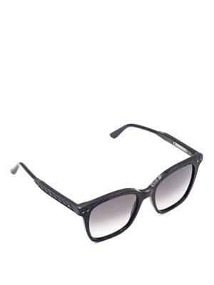 Bottega Veneta: sunglasses - Woven detail sunglasses