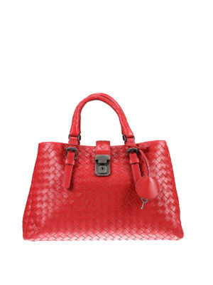 Bottega Veneta: totes bags - Roma Intrecciato small bag