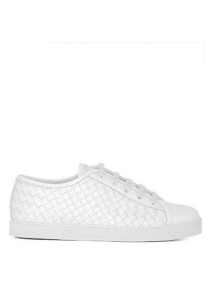BOTTEGA VENETA: sneakers - Sneaker Carmel in pelle intrecciata
