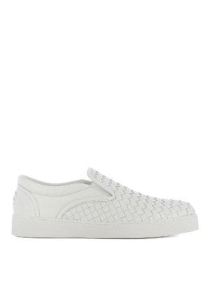 Bottega Veneta: trainers - Dodger slip-on white sneakers