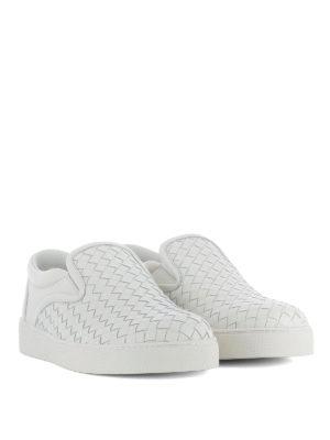 Bottega Veneta: trainers online - Dodger slip-on white sneakers