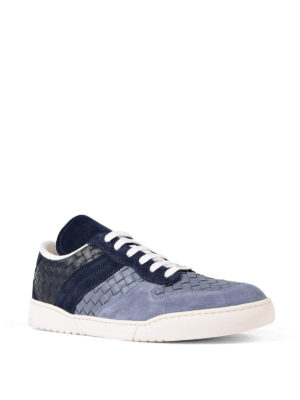 Bottega Veneta: trainers online - Intrecciato leather sneakers