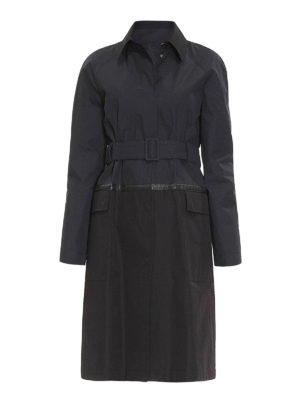 Bottega Veneta: trench coats - Intrecciato detail cotton trench