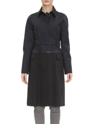 Bottega Veneta: trench coats online - Intrecciato detail cotton trench