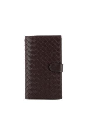 Bottega Veneta: wallets & purses - Intrecciato leather bifold wallet