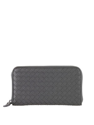 Bottega Veneta: wallets & purses - Intrecciato leather wallet