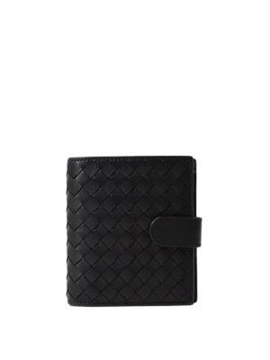 Bottega Veneta: wallets & purses - Intrecciato napa black mini wallet