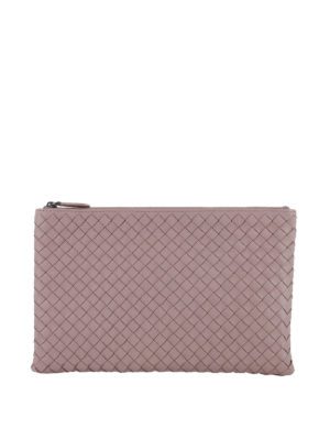 Bottega Veneta: wallets & purses - Intrecciato napa leather pouch