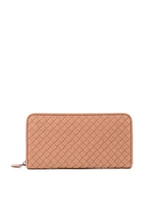 BOTTEGA VENETA: portafogli - Portafoglio con zip around in Intrecciato