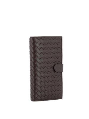 Bottega Veneta: wallets & purses online - Intrecciato leather bifold wallet