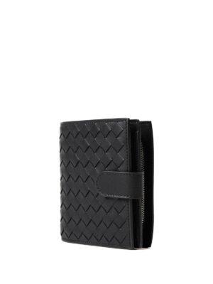 Bottega Veneta: wallets & purses online - Intrecciato napa black mini wallet