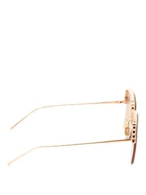 Boucheron: sunglasses online - Half-frame pink lenses sunglasses