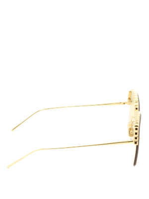 Boucheron: sunglasses online - Half-frame yellow lenses sunglasses