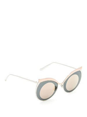 Boucheron: sunglasses - Optic effect cat-eye sunglasses