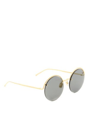 Boucheron: sunglasses - Rope-shaped grey lenses sunglasses