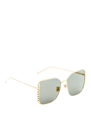 Boucheron: sunglasses - Square gold metal sunglasses