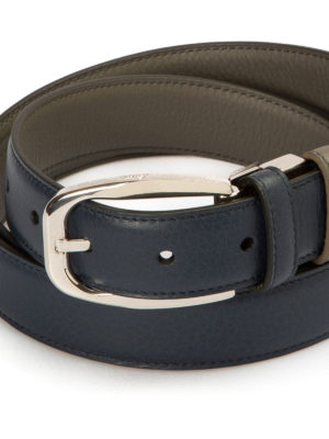 Brioni: belts online - Reversible leather belt