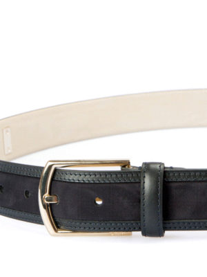 Brioni: belts online - Suede and leather belt