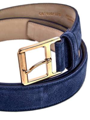 Brioni: belts online - Suede belt
