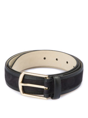 Brioni: belts - Suede and leather belt