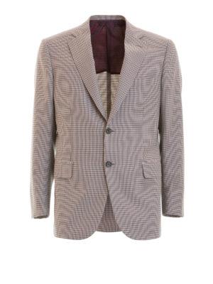 Brioni: blazers - Houndstooth unstructured blazer
