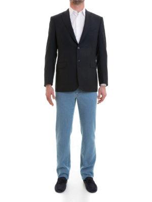 Brioni: blazers online - Brunico two-buttons wool blazer