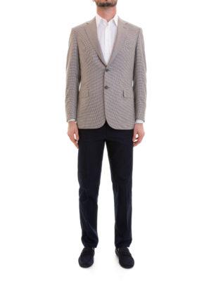 Brioni: blazers online - Houndstooth unstructured blazer