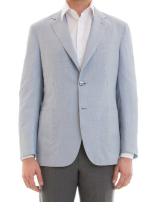 Brioni: blazers online - Wool and silk unstructured blazer