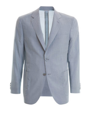 Brioni: blazers - Wool and silk unstructured blazer