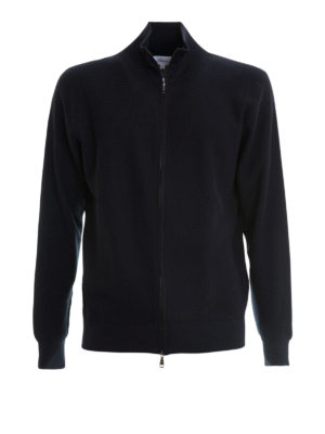 Brioni: cardigans - Knitted cotton cardigan