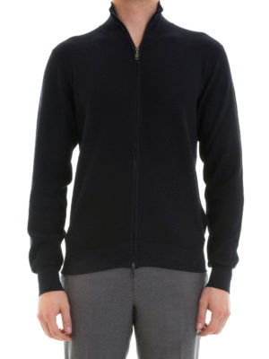 Brioni: cardigans online - Knitted cotton cardigan