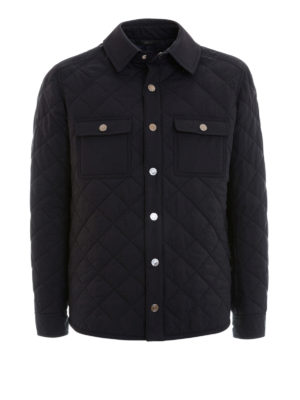 Brioni: casual jackets - Argyle quilted silk jacket