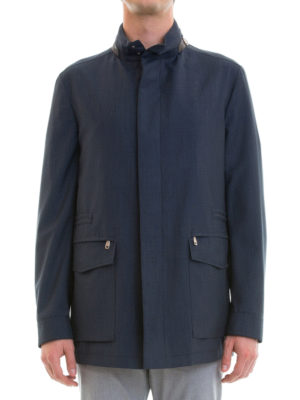 Brioni: casual jackets online - Textured virgin wool jacket