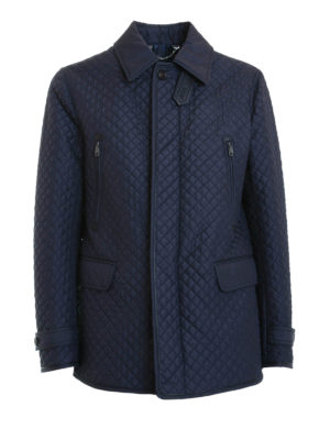 Brioni: casual jackets - Padded quilted silk jacket