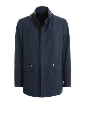 Brioni: casual jackets - Textured virgin wool jacket