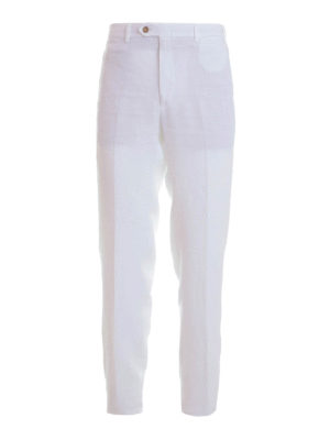 Brioni: casual trousers - Linen trousers