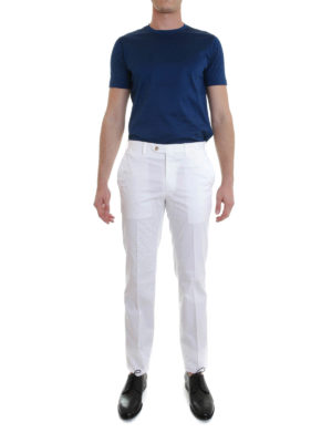 Brioni: casual trousers online - Stretch cotton trousers