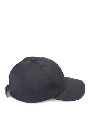 Brioni: hats & caps online - Suede strap detailed baseball cap