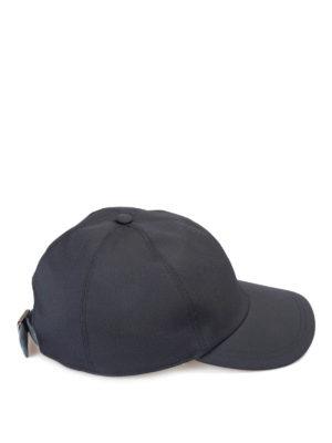 Brioni: hats & caps online - Suede strap detailed baseball cap