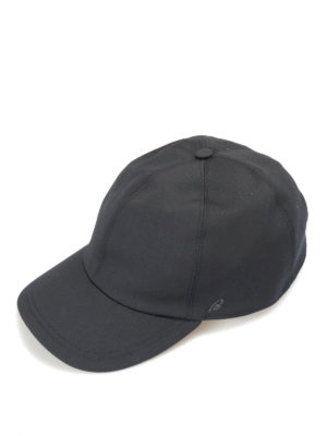 Brioni: hats & caps - Suede strap detailed baseball cap
