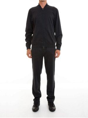 Brioni: jumpsuits online - Stretch cotton jersey jumpsuit